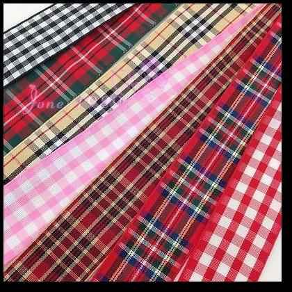 Wholesale Plaid Ribbons