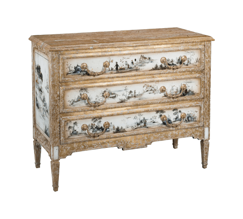 Chinoiserie Oak Chest Dresser $2,750