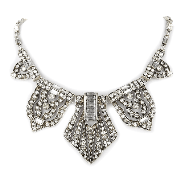 Art Deco Vintage Style Retro Dangle Necklace