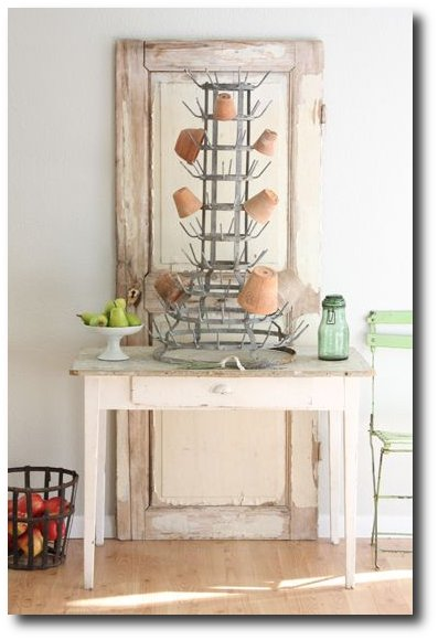 French Bottle Drying Rack - Shabby chic - Dish Rackss Houzz