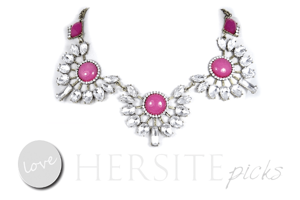 Luxury Oval Floral Necklace Pendant Fuchsia Pink, Tags: The Best Plus Of 2015, Designer Plus Size, Plus Size Fashions, Plus Size Spring Summer, The Best Plus Size Fashions 2015, Hersite Blog Picks,
