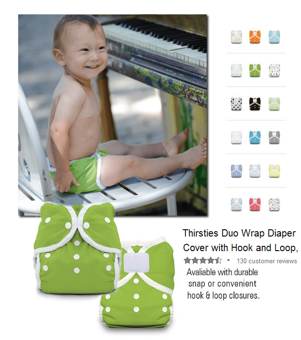 Thirsties Duo Wrap Diaper Cover with Hook and Loop
