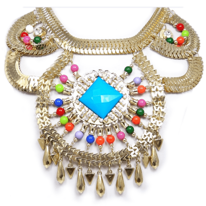 Vintage Style Large Art Deco Bib Statement Necklace Rhinestone Crystal Gold, Tags: The Best Plus Of 2015, Designer Plus Size, Plus Size Fashions, Plus Size Spring Summer, The Best Plus Size Fashions 2015, Hersite Blog Picks,