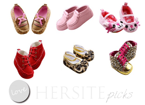 Weixinbuy's Children Baby Shoes Line In Pinks And Reds