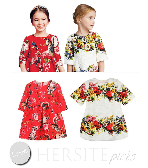 Weixinbuy's Children Little Girls Floral Dresses