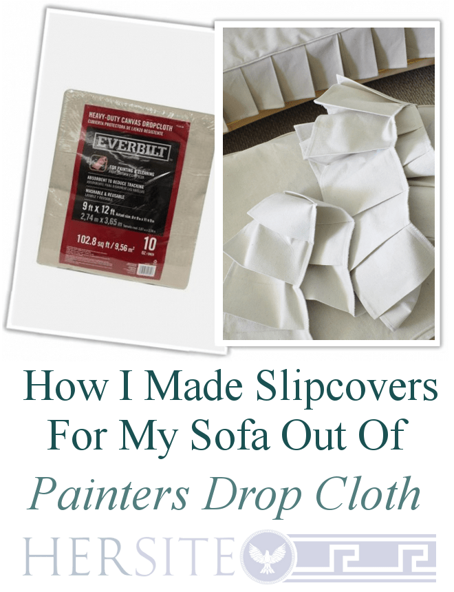 drop cloth ottoman how i made sofa slipcovers out of painters drop cloth