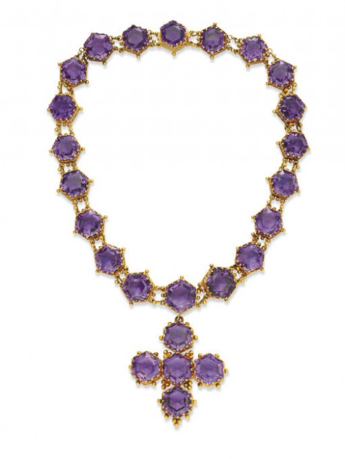 An Antique Amethyst Pendant Necklace – Sold at Christie's New York in October 2007 for $15,000