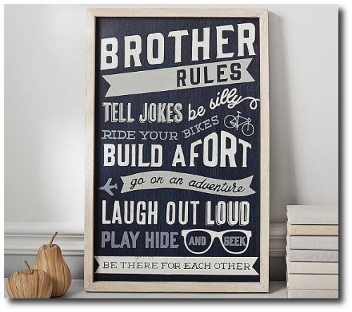 Brother Rules From Pottery Barn
