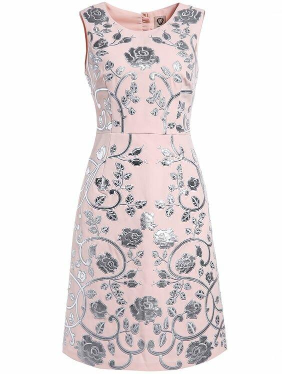Pink Silver Dress